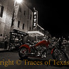 Title: Lady On Red<br /> <br /> Comments:  One of about 56932 motorcycles that descends on Austin every year for the HOT motorcycle jamboree.  Truly an incredible scene.  This one was ridden by a female biker. <br /> <br /> Location:  Austin