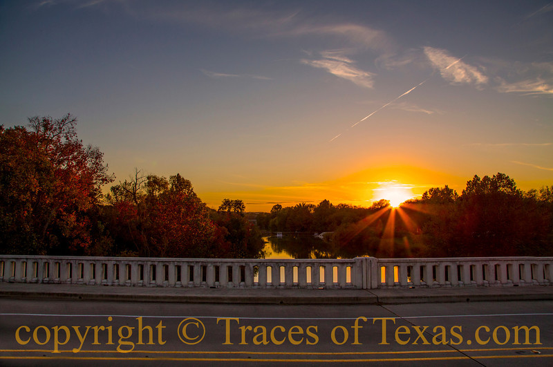 "Title: Being in Blanco.  Either that or ""Blancalicious.""<br /> <br /> Comments: Sunset over the Blanco River in ... Blanco.<br /> <br /> Location: Uh ... Blanco"