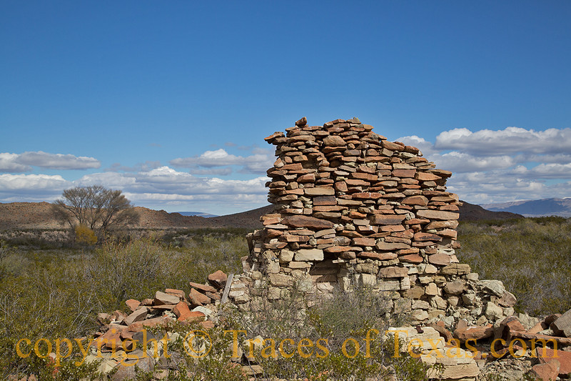 Title: Buffalo Soldier<br /> <br /> Comments:  This wall is all that remains of the former officer's quarters of Camp Neville Springs, a buffalo soldier outpost that has been all but forgotten in the west Texas desert.<br /> <br /> Location: Big Bend National Park