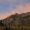 <br><br>Title:   Time It Was  Comments:  Gentle sundown on Hunter Peak.  Location:  Guadalupe Mountains