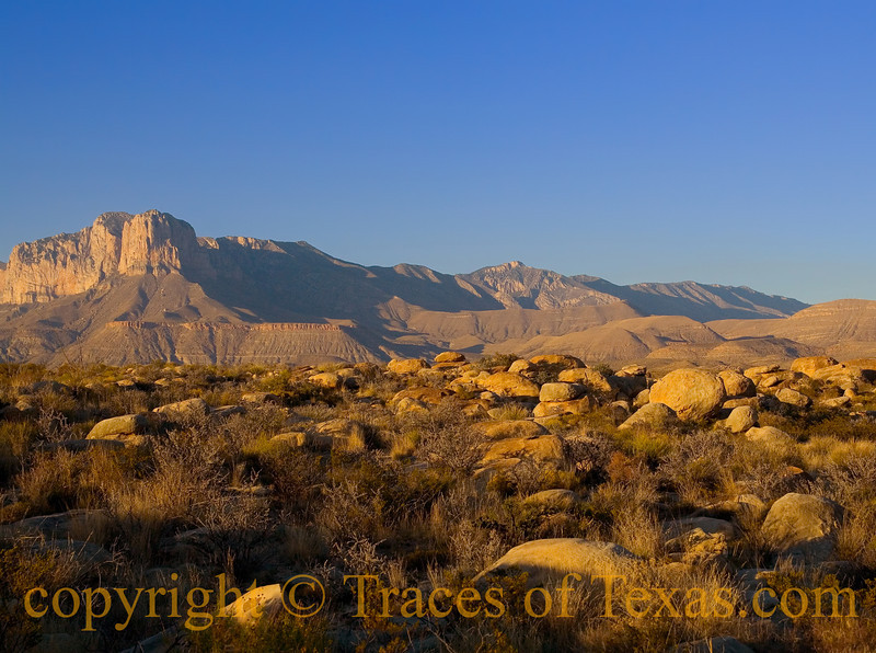 "Title: The Dictionary Definition of ""Eons.""<br /> <br /> Comments:  Friends tell me that rocks are not sentient and thus have no consciousness. Had they been with me this day, they might think otherwise.<br /> <br /> Location: Guadalupe Mountains National Park"