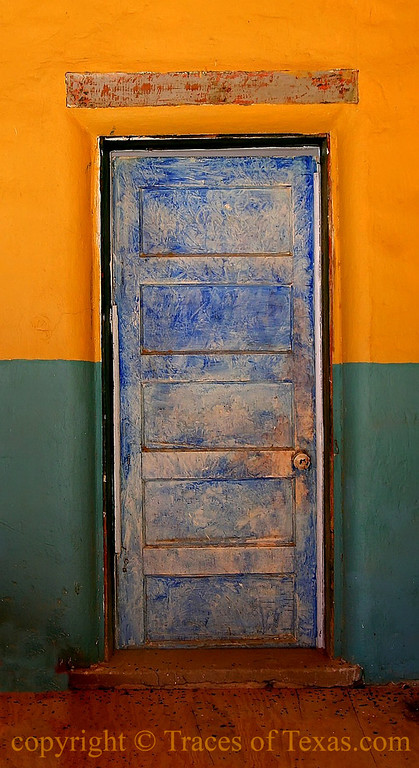 Title:   Blue Door<br /> <br /> Comments: In the non-denominational church in Terlingua.<br /> <br /> Location: Terlingua, Texas