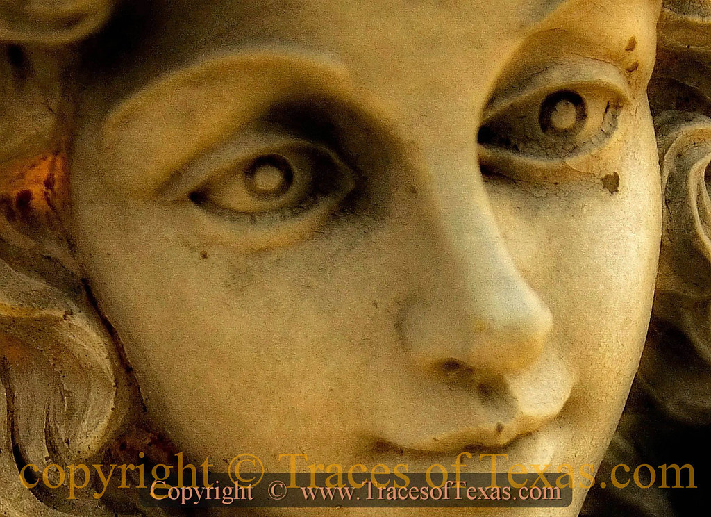 Title:   Cemetery Stare<br /> <br /> Comments: I felt this 110 year old statue graveside statue peering beyond my soul.<br /> <br /> Location: Oatmeal, Texas
