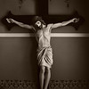 Title:   Sepia Savior<br /> <br /> Comments: Moment of quiet repose<br /> <br /> Location: Praha