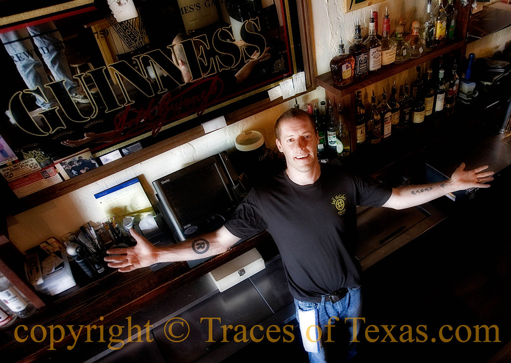 Title: The King and His Court<br /> <br /> Comments: Johnny is the owner of Bull McCabe's, the only true Irish bar in Austin.  Like all good Irishmen, he pours an honest drink. <br /> <br /> Location: Austin
