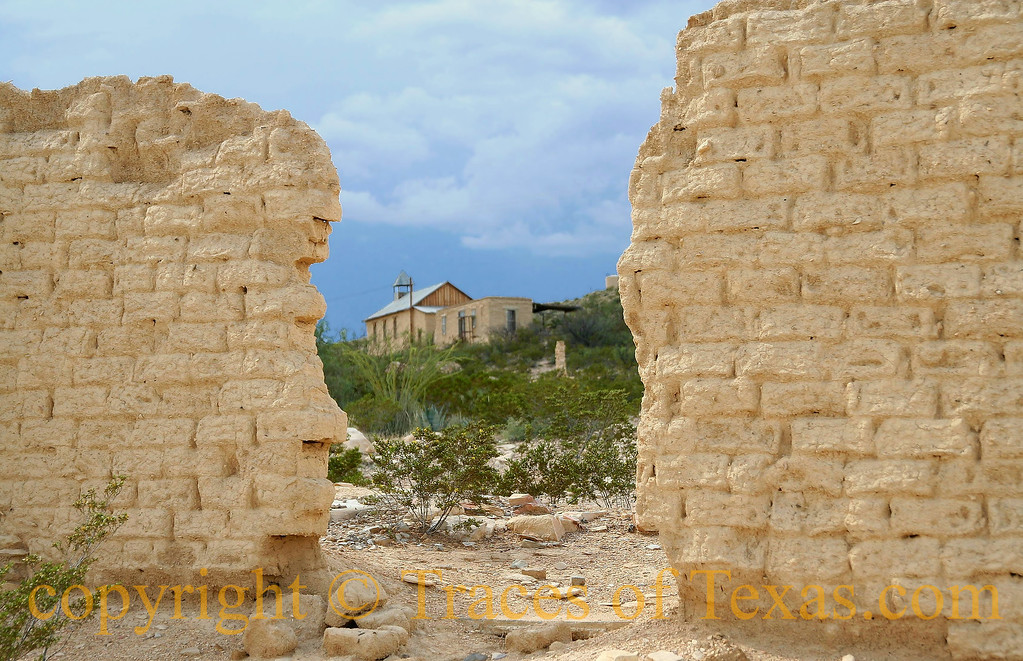 Title:  Ezekiel 25:17 <br /> <br /> Comments: The old church, framed by crumbling adobe walls. <br /> <br /> Location: Terlingua, Texas
