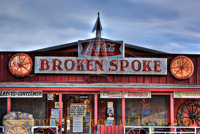 Title: Last Call Dance Hall<br /> <br /> Comments: The Broken Spoke has seen  nearly every legend of Texas country music, from Willie Nelson to Bob Wills to Lyle Lovett.   You can hear the echoes when you stand front.  <br /> <br /> Location: Austin