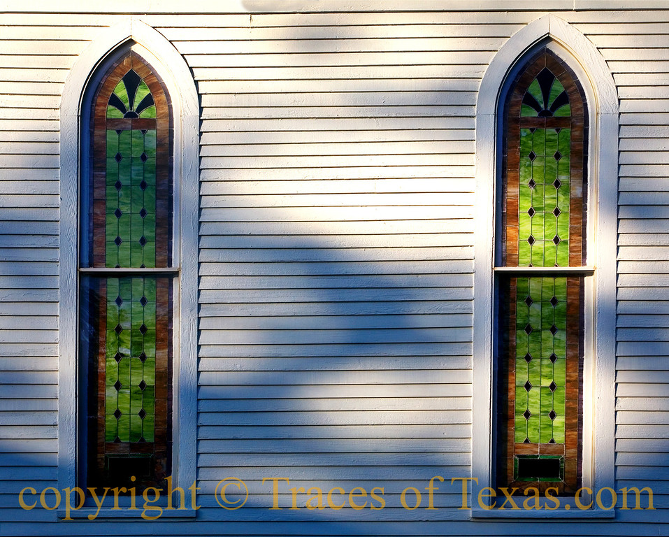 Title: United We Stand<br /> <br /> Comments: The Frist United Methodist Church in Jefferson has been in Jefferson since 1844. This structure was built in 1888.  The bell  was minted out of 1500 Mexican silver dollars.<br /> <br /> Location: Jefferson