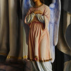Title:   Angel Flying too Close to the Ground <br /> <br /> Comments: Statue inside one of the painted churches. My notes are unclear as to which one.<br /> <br /> Location: Near Schulenburg, Texas