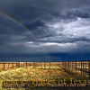 Title:   While Waiting on the Cowboys <br /> <br /> Comments: Before the cowboys showed up to load their horses onto a truck, this rainbow appeared.<br /> <br /> Location: Marfa