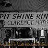 Title:   Spit Shine King<br /> <br /> Comments: I hear that Clarence is the best boot shiner in the state. <br /> <br /> Location: Granger