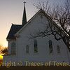 Title: Born in the One Light, Eden Saw Play<br /> <br /> Comments:  On a soundless, golden morning, the New Sweden Evangelical Lutheran Church in New Sweden, Texas, greets another day. <br /> <br /> Location: New Sweden