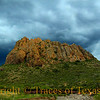 Title:   Breathe Deep the Gathering Gloom<br /> <br /> Comments: Storm clouds rolling over Chinati Peak.<br /> <br />  Location: Near Ruidosa, Texas
