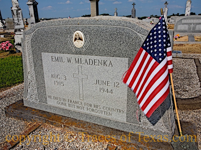 Title:  He Died in France for His Country<br /> <br /> Comments: RIP Emil W. Mladenka  <br /> <br /> Location: Ocker
