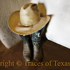 Title:   How we Remembered Him<br /> <br /> Comments: After he passed away, his wife kept his boots and hat in a corner of her entryway. But she never again visited his grave. <br /> <br /> Location: San Saba