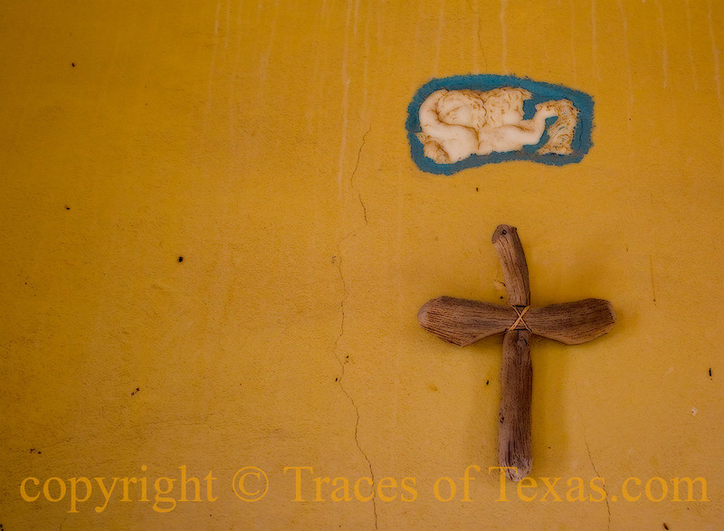 <br>Title: When You See the Southern Cross for the First Time, You Understand Why You Came this Way  Comment: The simple church in Terlingua is not exactly Chartres Cathedral, but west Texas doesn't mind.  Location: Terlingua