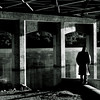 """Title:  'Cos there's something in a Sunday ...... Makes a body feel alone<br /> <br /> Comments:  Ironically, I were playing Kris Kristofferson's version of """"Sunday Morning Coming Down"""" on the radio when I happened to notice this man under the bridge. <br /> <br /> Location: Austin"""
