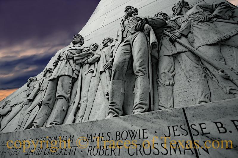 Title:  Pantheon<br /> <br /> Comments: Bowie, Crockett, Bonham .... pantheon of the immortals.. <br /> <br /> Location: San Antonio