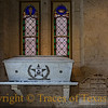 """Title:  Sacred Sarcophagus <br /> <br /> Comments:  The text on the plaque to the right of this sarcophagus reads:<br /> <br /> """"Here Lie the Remains of Travis, Crockett, Bowie and Other Alamo Heroes<br /> <br /> Formerly buried in the sanctuary of the Old San Fernando Church<br /> <br /> Exhumed July 28, 1936. Exposed to public view for a year. Entombed May 11, 1938<br /> <br /> The Archdiocese of San Antonio erected this memorial May 11 A.D. 1938  R.I.P""""<br /> <br /> Location: San Antonio"""