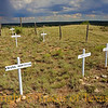 """Title:  Buried on Boot Hill <br /> <br /> Comments: One of several """"Boot Hill"""" cemeteries that dot the old west. Another is in El Paso. <br /> <br /> Location:  Old Tascosa"""