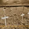 Boot Hill Cemetery in Sepia, Old Tuscosa