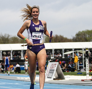 Katie Flood - Anchor for the winning U of Washington Women's Distance Medley relay team.