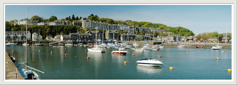 A bright sunny April day at Porthmadog harbour.