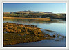 View accros the the Afon Glaslyn from Porthmadog on a bright winter morning.