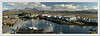 View of Porthmadog harbour. Three shots joined together with Autostitch i find it works better than my old Photoshop CS2.