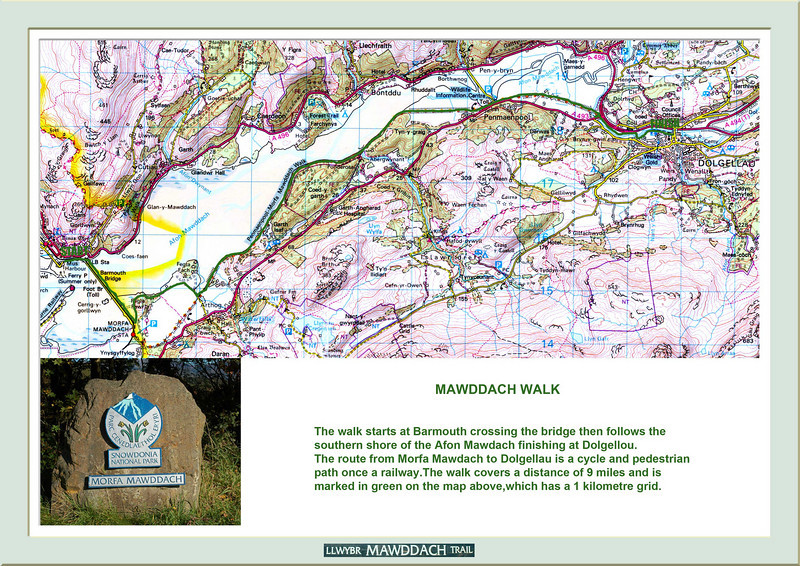 Route Map,  oops! a spelling mistake here  Mawddach has a double D not a single as in the text.