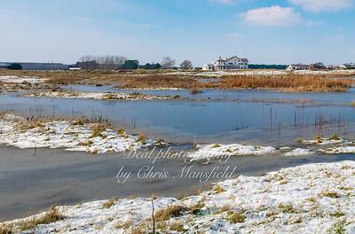 Feb 11th 2021.. View from Sandown castle towards the golf club