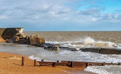 Feb' 10th 2021 .. Choppy seas at Kingsdown