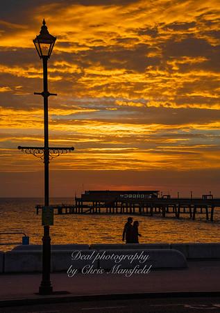 Feb' 21st 2021. Deal pier at dawn
