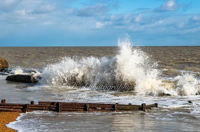 Feb' 10th 2021..  choppy seas at Kingsdown