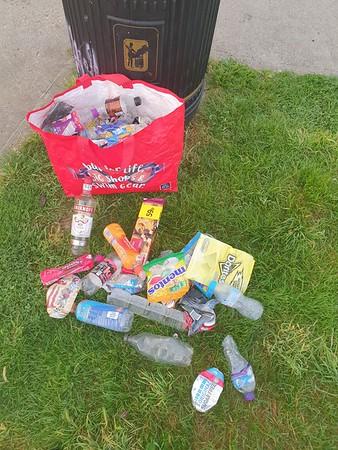 Sept' 6th 2021.  Skateboard park .. 62 bottles and cans