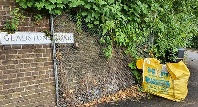 Aug 22nd 2021 .  Fly tip on Gladstone road