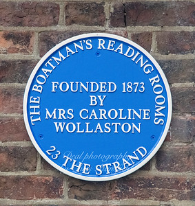 This Plaque is just inside Woolaston road.. Reading rooms were usually set up by well to do Victorians as a facility for local boat men ...somewhere away from the beer houses