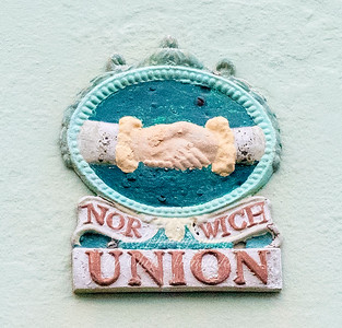Norwich union fire insurance plaque, 83, Middle street Deal