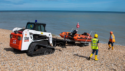 Sept' 6th 2020. Walmer lifeboat launch