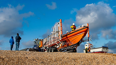 Dec' 6th 2020 . Walmer lifeboat returning to base