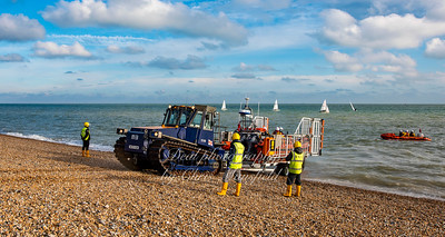 Dec' 6th 2020. Walmer lifeboat returns to base