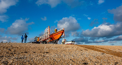 Dec' 6th 2020.  Walmer lifeboat returning to base