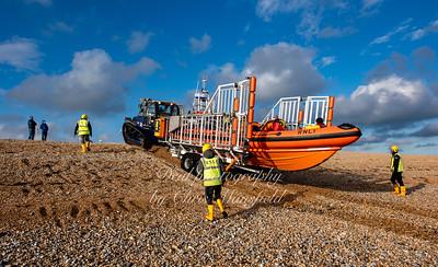 Dec' 6th 2020. Walmer lifeboat returning to base
