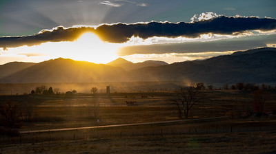 Silo and sun rays - Boulder colorado