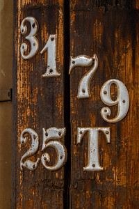 Telephone pole and numbers