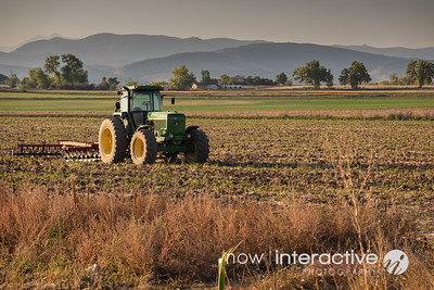 Tractor after tilling - Longmont, Colorado