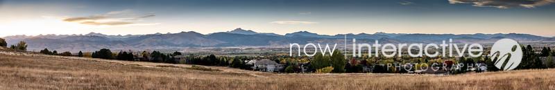 Snow capped panorama - Niwot Colorado