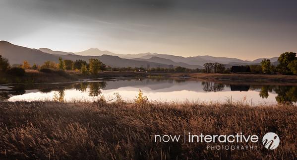 Mountain Ranges reflecting on lake - Hygene Colorado