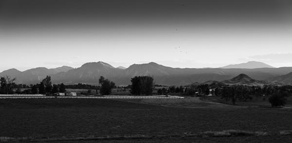 Haystack mountain and Boulder Flatirons