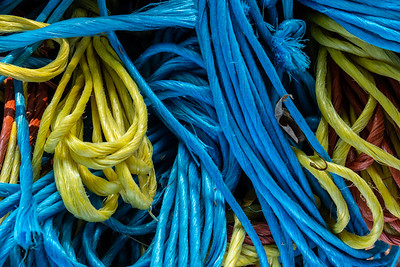 Brightly colored twine